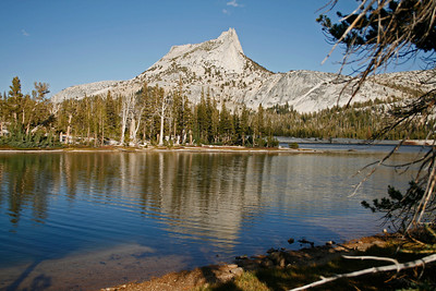 Cathedral Peak and Lake.