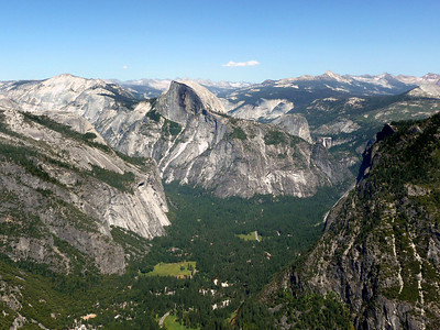 Eagle Peak View of Half Dome and Yosemite Valley.