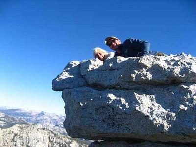 Karen & Mike Atop Tenaya Peak.