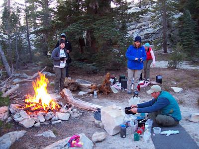 Camp kitchen at Mildred Lake.