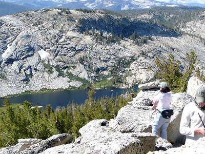 Mildred Lake from Tenaya Peak.