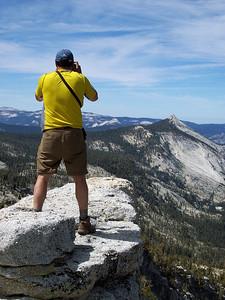 Taking in the View Atop Tenaya Peak.