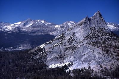 Mt. Conness and Cathedral Peak.