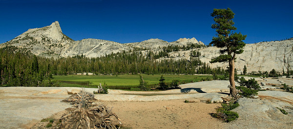 The scene at Lower Cathedral Lake.