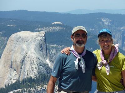 Guides Karen & Rick on Clouds Rest.