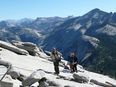 Coming up the Half Dome Cables.