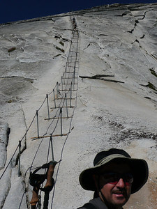 The cables to the top of Half Dome.