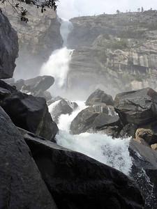 Wapama Falls in full Spring tilt.