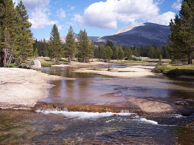 Lyell fork of the Tuolumne at Twin Bridges.