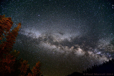 Milky way from camp
