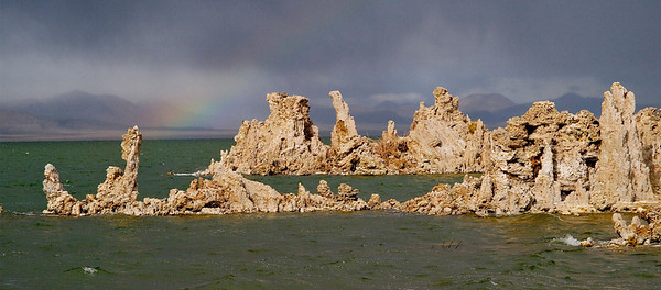 Tufa with Rainbow Copyright 2009 Neil Stahl