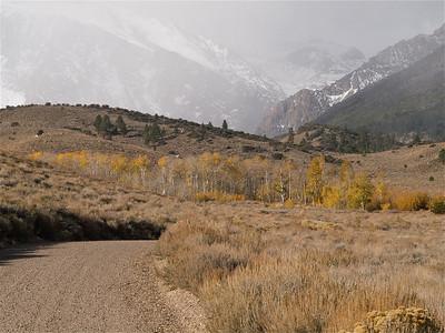 Parker Lake Road Curve under Misty Mountains 2 Copyright 2009 Neil Stahl