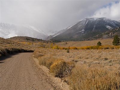 Parker Lake Road Curve under Misty Mountains Copyright 2009 Neil Stahl