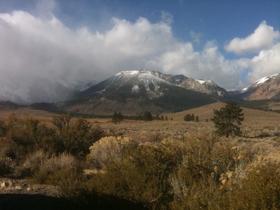 Snowy Mountain and Cloudy Hillside from June Lake Loop Copyright 2009 Neil Stahl