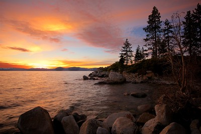 Sunset at Sand Harbor
