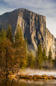 El Capitan in Morning Mist