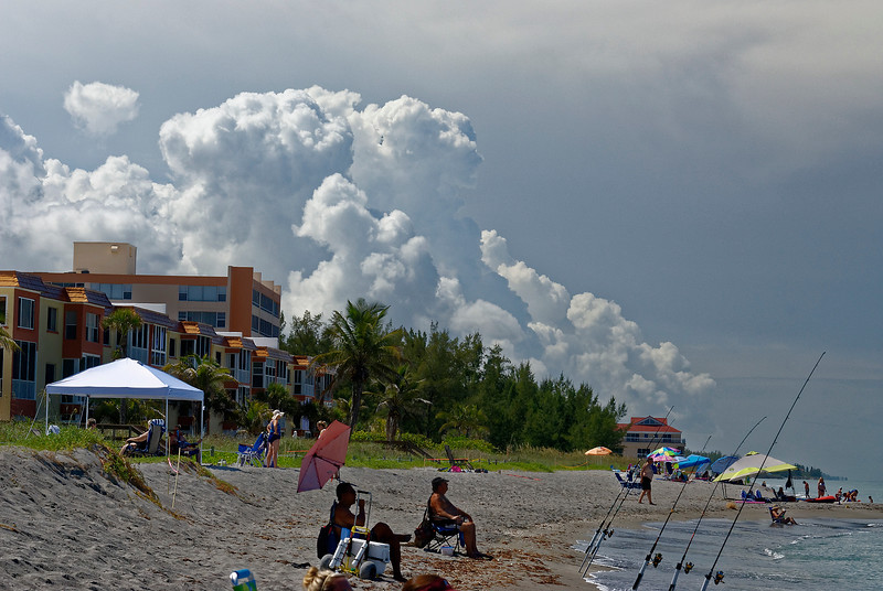 Storm on the Horzion - Siesta Key Florida