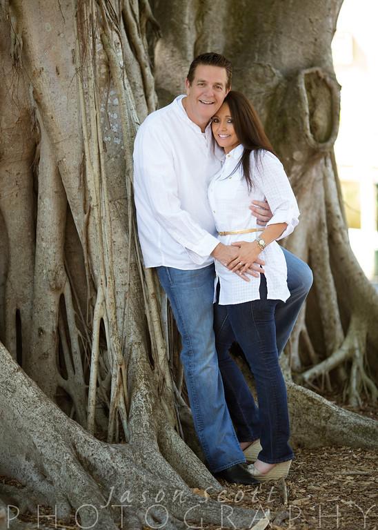 Linda and David at Marie Selby Botanical Gardens in Sarasota, May 2013