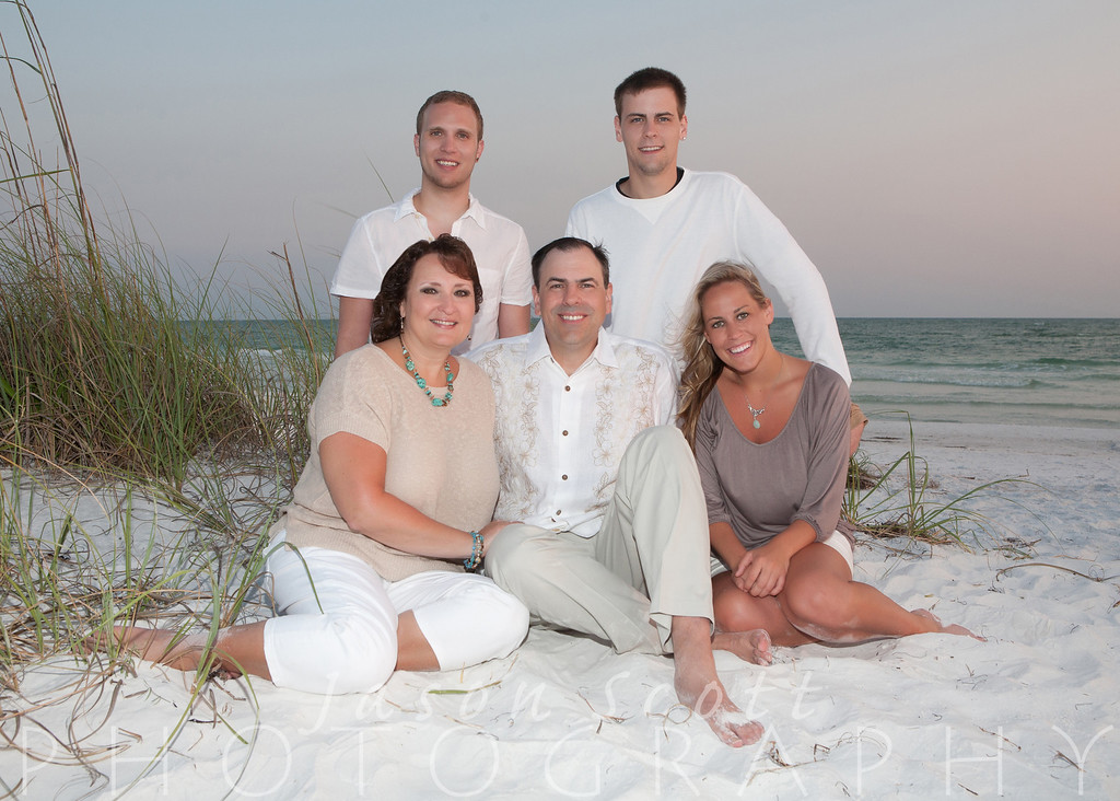 Lacke Family on Siesta Key, June 2012