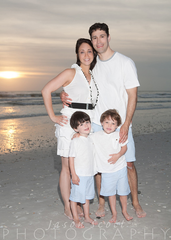 Levy Family on Siesta Key, August 2012