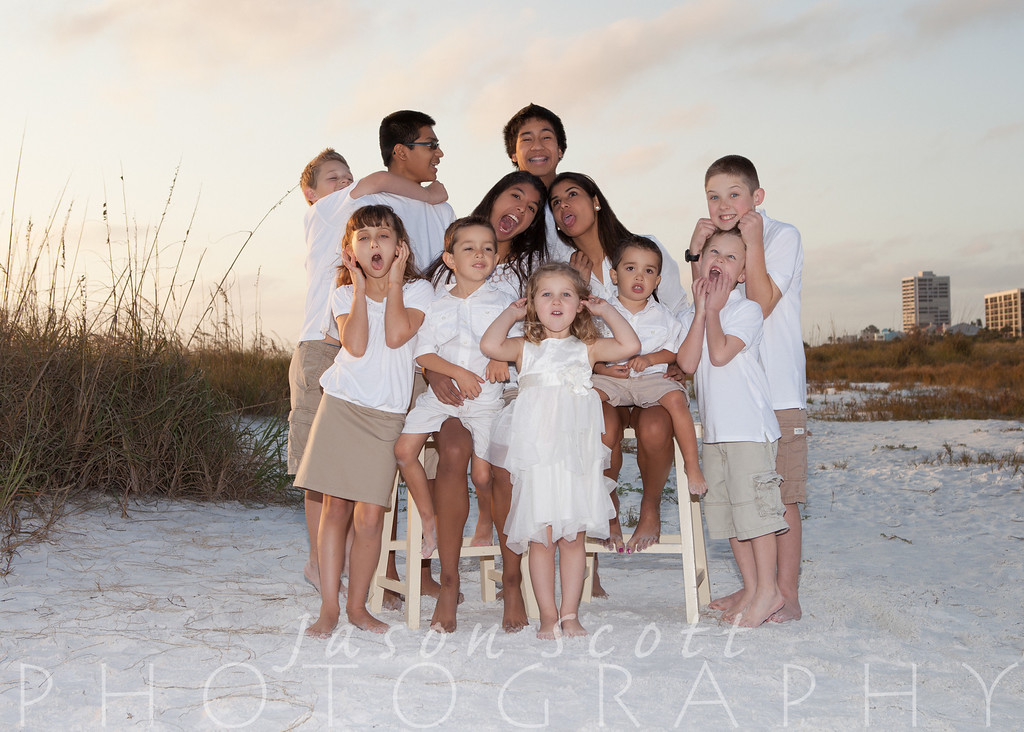 Parzch Family on Siesta Key, December 2012