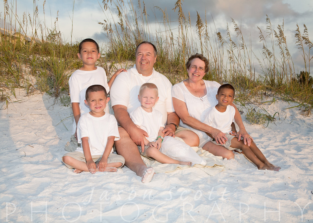 Purvis Family on Siesta Key, July 2012