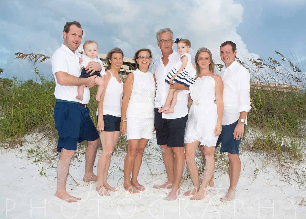 Wood/Strittmater Family at the Sea Club V on Siesta Key, August 2012