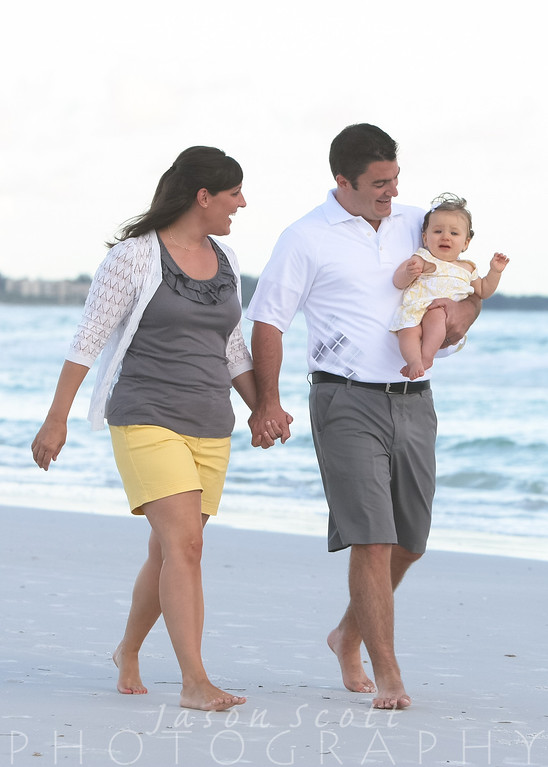 Thornicroft Family on Siesta Key, September 2012