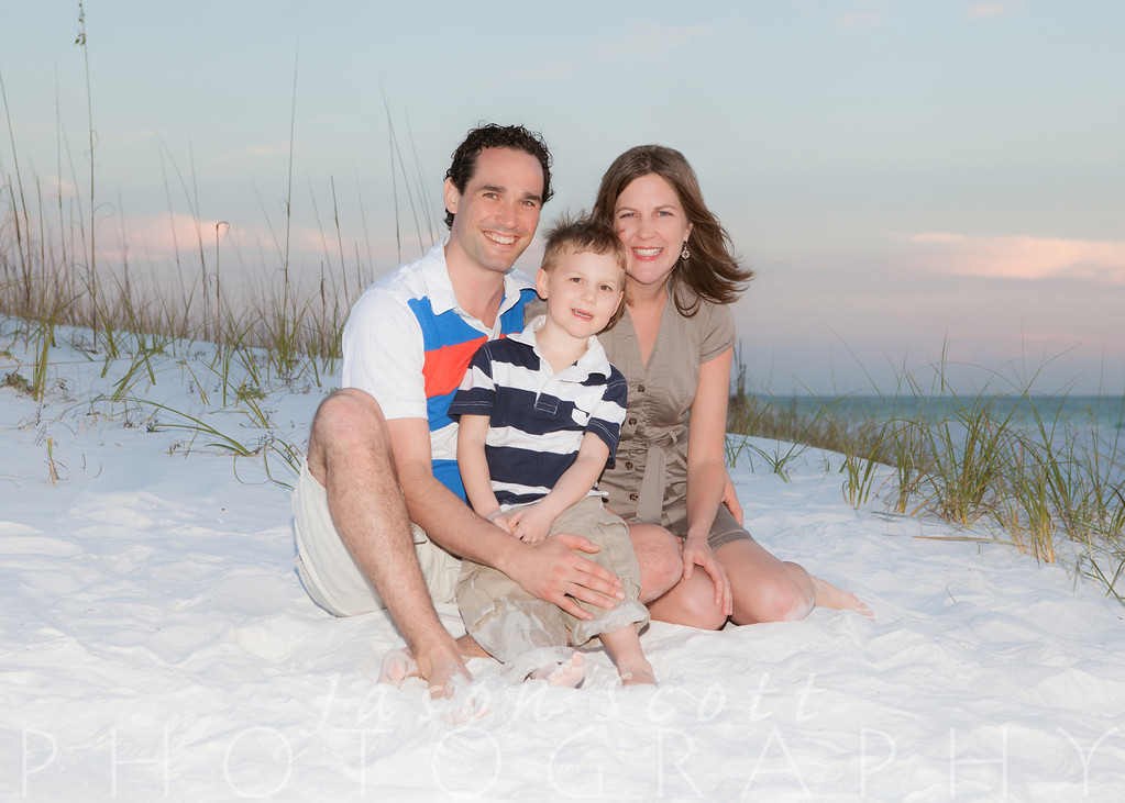 Bollinger Family on Siesta Key, February 2013