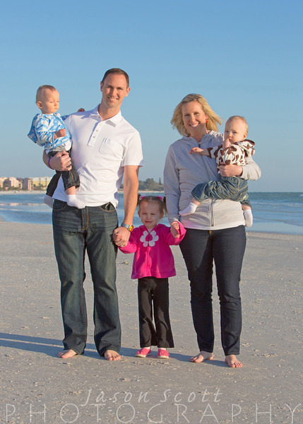 Hawley Family at the Palm Bay Club Resort on Siesta Key, March 2013