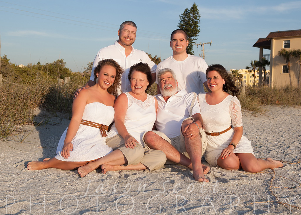 Kisseberth Family at Fisherman's Cove on Turtle Beach, Siesta Key, March 2013
