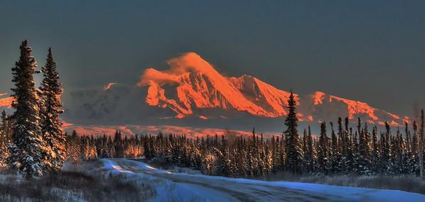 Alpenglow On Mt Drum