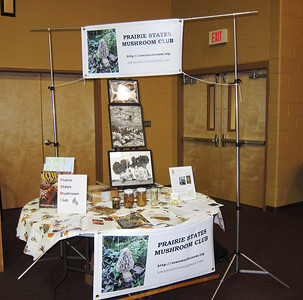 Our club table at the Johnson County Heritage Trust's Prairie Preview.