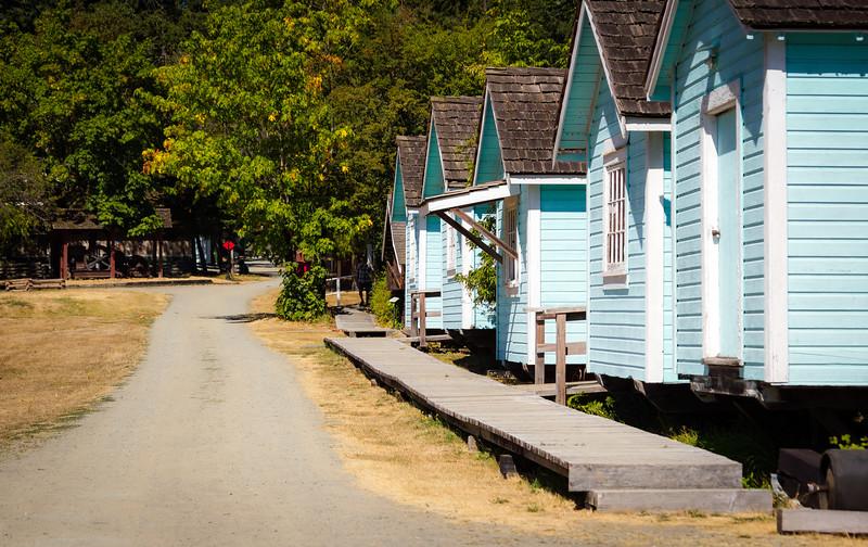 logging camp houses on skids