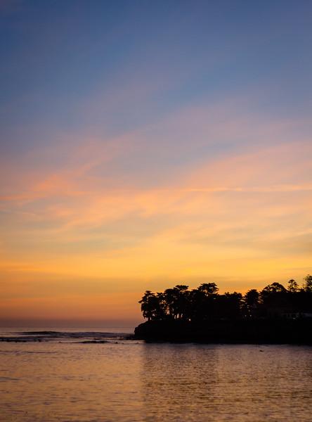 santa cruz sunset