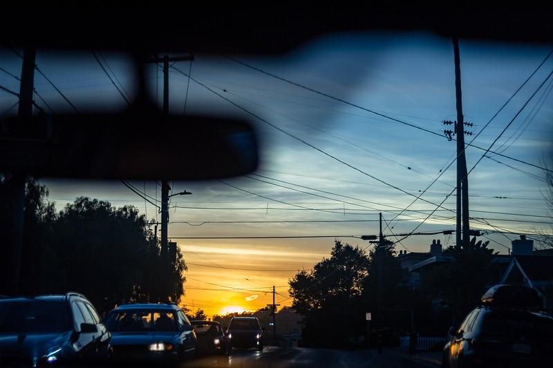 sunset in santa cruz