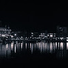 inner harbour at night (b&w)