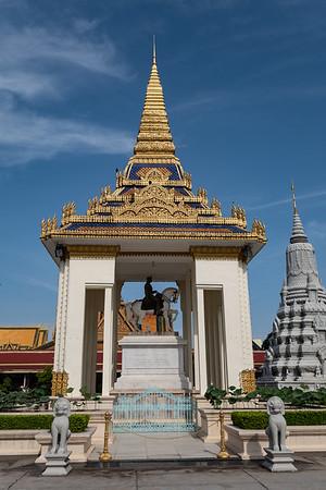 2019, Cambodia, Phnom Penh, Silver Pagoda grounds