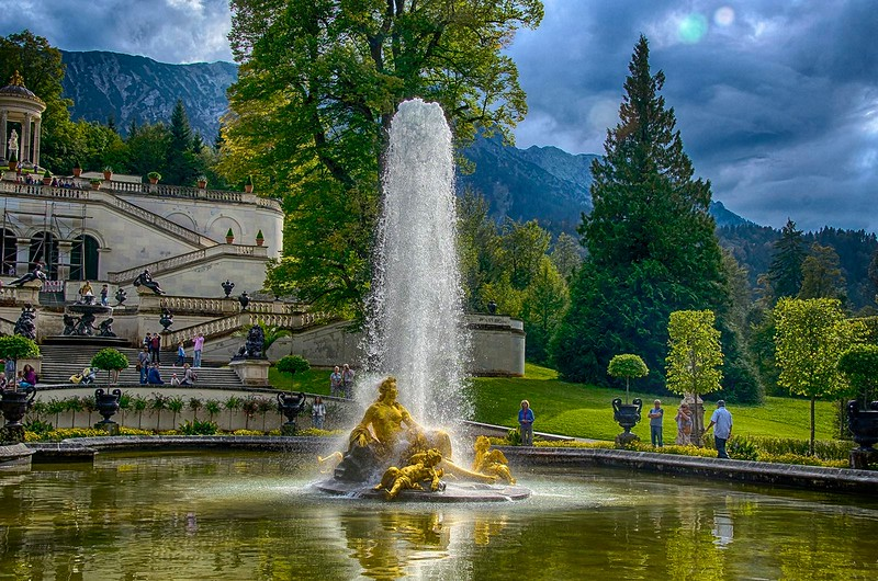 Fountain in a castle