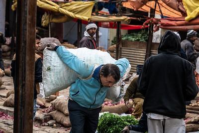 2019, India, Old Delhi. Vegetable Market