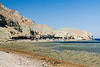 Red Sea, Dahab, the Sinai, Egypt.  Bedouin restaurants offer shade, food, and views by the shores of the Blue Hole at Dahab, Egypt.  © Rick Collier<br /> <br /> <br /> <br /> <br /> <br /> Egypt 'Red Sea' 'Ras Mohammed' Dahab Sharm 'Sharm el-Sheikh' 'Sharm al-Shaykh' camel seashore Sinai Bedouin arab restaurant 'blue hole' sea view
