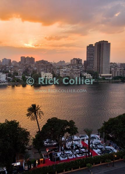 View from balcony at the Conrad Hilton, Cairo, Egypt.