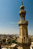 "Cairo, Egypt -- View from the minarets of the Bab Zuwayla gate.  One of the three first gates installed around the historic walled city of Cairo, standing at the southern boundary of old Fatimid Cairo.  The two minarets atop this tower actually belong to the nearby Mosque of al-Mu'ayyad, which sits just inside this gate (on the left).  For a small fee, it is possible to climb the minarets for a spectacular view of old and new Cairo, featuring many minarets above the old city. © Rick Collier / RickCollier.com.<br /> <br /> <br /> <br /> <br /> <br /> travel; vacation; tour; tourism; tourist; destination; Egypt; Cairo; city; view; gate; walls; bab; ""Bab Zuwayla""; Zuwayla; minaret; Fatimid; Fatmid; ""city gate""; ""Islamic Cairo"";"