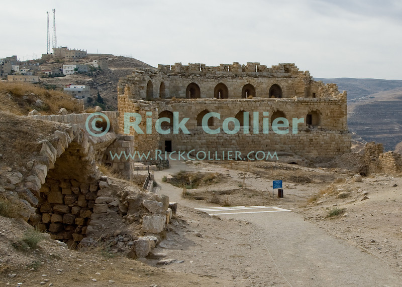 After Karak Castle was conquered by Saladin, it was garrisoned by Mamluks, who added to the fortifications.  © Rick Collier<br /> <br /> <br /> <br /> <br /> Jordan Karak al-Karak castle crusader crusades knights fort fortress history historic tourist tourism antiquities 'Kingdom of Jerusalem' battlement battlements walls keep chapel ruin ruins