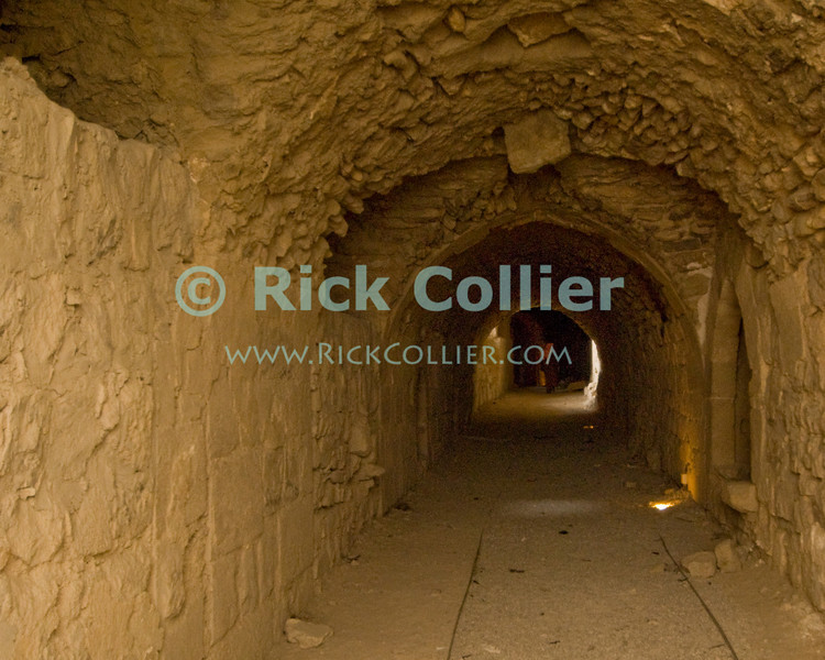 The prison of Karak Castle is every bit the dungeon one might imagine.  The Crusader castle at Karak guarded the eastern border of the Kingdom of Jerusalem after the first Crusade. © Rick Collier