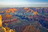 The Grand Canyon, Arizona, USA.  Sunrise brings color to the Grand Canyon on a cool February morning.  Snow is visible on the upper ledges.  © Rick Collier<br /> <br /> <br /> <br /> <br /> <br /> <br /> <br /> US USA Arizona Grand Canyon Colorado River sun sunrise shadow day daylight dawn tree cliff overlook river bed riverbed valley