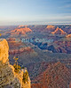 The Grand Canyon, Arizona, USA.  Sunrise brings color to the Grand Canyon on a cool February morning.  Snow is visible on the upper ledges.  © Rick Collier