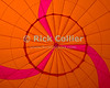 "The seams and fabric make a symetrical pattern in brightly colored fabric at the very top of a hot-air balloon, visible from inside as the bag inflates.  © RickCollier.com<br /> <br /> <br /> <br /> <br /> <br /> ""balloon festival""; USA; Virginia; Winchester; ""Long Branch""; ""Long Branch Farm""; morning; balloon; lift; ""balloon lift""; ""hot air balloon""; fabric; seam; seams; pattern"