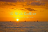 Sailboats cruise in the sunset off Waikiki, Honolulu, Oahu, Hawaii.  © Rick Collier<br /> <br /> <br /> <br /> <br /> <br /> <br /> <br /> Hawaii Hawai'i Oahu Honolulu Waikiki sunset sun sail sailboat sea ocean