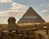 "Giza, Cairo, Egypt -- The Great Sphinx, part of the funerary temple of Khafre (Kephren), sits in front of the processional causeway that leads to Khafre's pyramid, in the background. © Rick Collier / RickCollier.com<br /> <br /> <br /> <br /> <br /> <br /> travel; vacation; destination; Egypt; Cairo; Giza; pyramids; pyramid; ""Pyramids at Giza""; tourist; tourism; Khafre; Kephren; sphinx; ""Great Sphinx"""